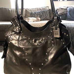 Frye black leather purse